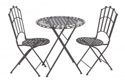 Elegantly designed durable metal bistro with versatile style