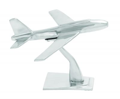 Aluminum plane with intricate detailing and rich metallic glaze