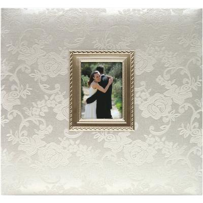 MBI Floral Fabric Post Bound Album W/Window 12''X12''-Wedding