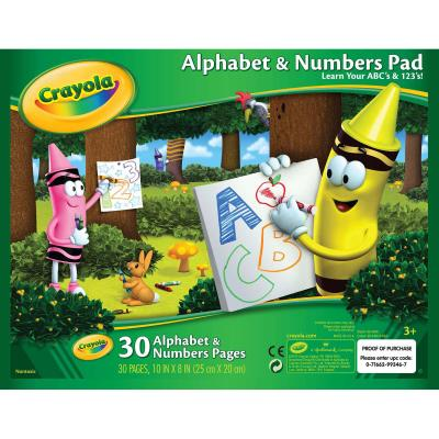 Crayola Alphabet & Numbers Pad 10''X8''-30 Sheets