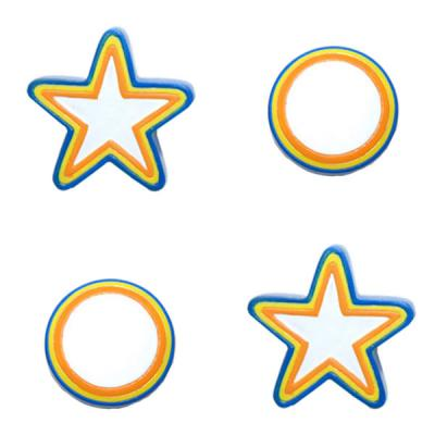 Colorful Stars Circles 2 Pack Drawer Pulls-Cabinet Handles