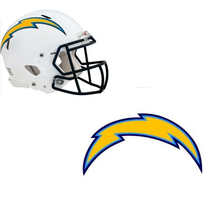 San Diego Chargers Car Decals: NFL San Diego Chargers Wall Graphics 4pc Teammate Stickers