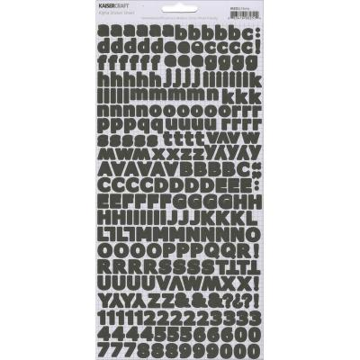 Alphabet Stickers 6'X12' Sheet-Ebony - Case Pack of 5
