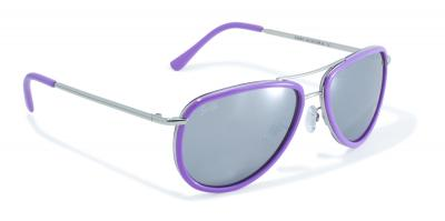Purple Rimmed Aviator Style Sunglasses by Swag
