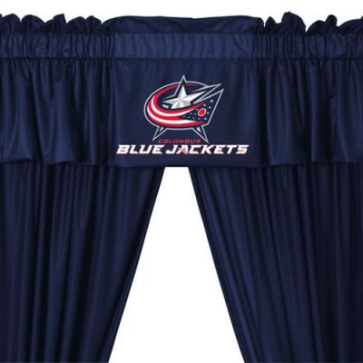 NHL Columbus Blue Jackets 5pc Curtains and Valance Set