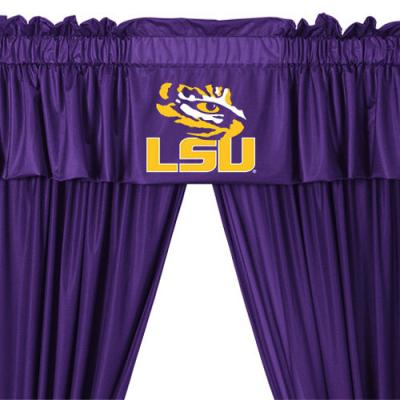 NCAA Louisiana State Tigers 5pc Curtains and Valance Set
