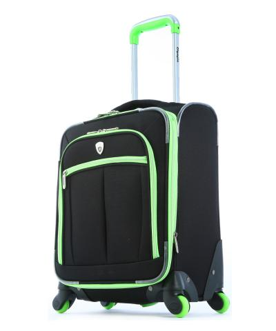 Olympia O-Tron 18inin Expandable Outdoor Travel Carry-on Luggage suitcase set in Lime