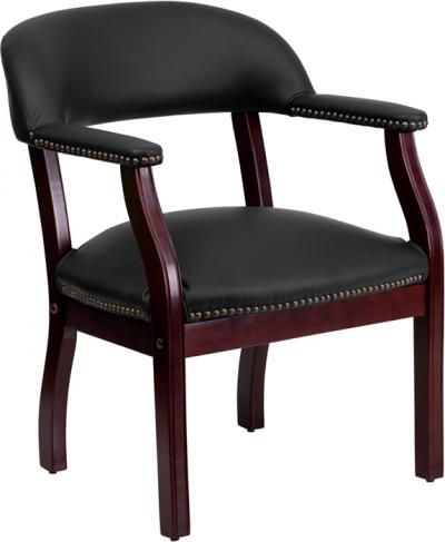 Black Leather Conference Chair [B-Z105-LF-0005-BK-LEA-GG]