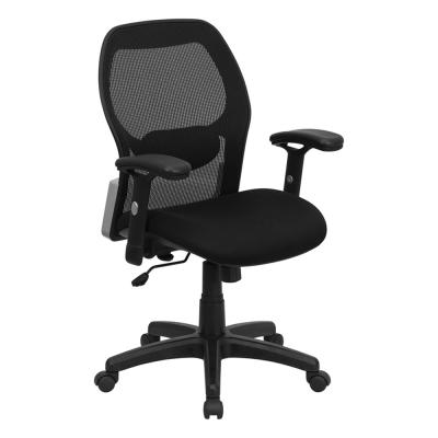 Mid-Back Super Mesh Office Chair with Black Fabric Seat [LF-W42B-GG]