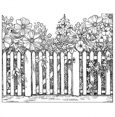 Crafty Individuals Unmounted Rubber Stamp 4.75''X7'' Pkg-Beyond The Picket Fence