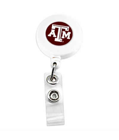 Texas A&M Aggies Retractable Badge Reel Id Ticket Clip NCAA