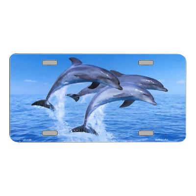 Dolphins Novelty Vanity Metal License Plate Tag Sign