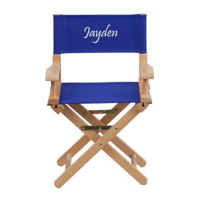Flash Furniture Embroidered Kid Size Directors Chair in Blue