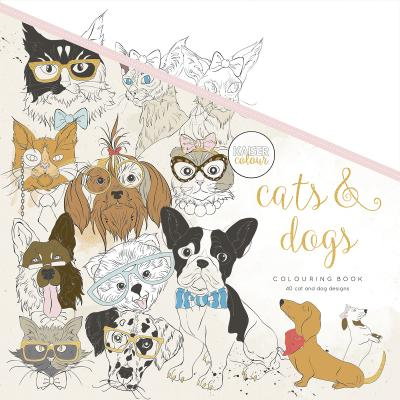 KaiserColour Perfect Bound Coloring Book 9.75'X9.75'-Cats & Dogs