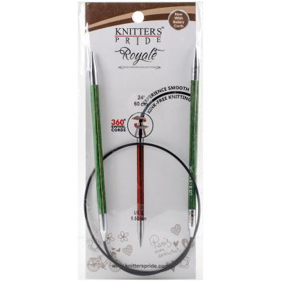 Knitters Pride-Royale Fixed Circular Needles 24'-Size 9/5.5mm