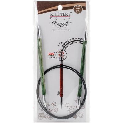Knitters Pride-Royale Fixed Circular Needles 32'-Size 9/5.5mm