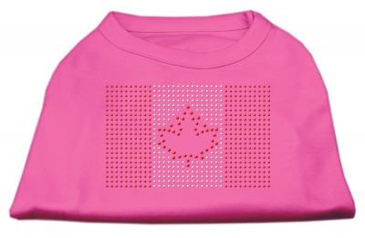 Mirage Pet Products Canadian Flag Rhinestone Shirt Bright Pink - XXXLarge - 20