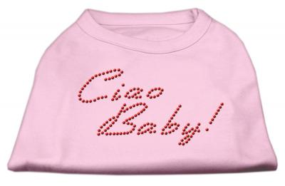 Mirage Pet Caio Baby Rhinestone Cotton Sleveeles Shirt - Large - 14