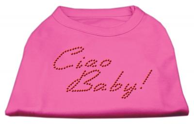 Mirage Pet Caio Baby Rhinestone Cotton Sleveeles Shirt - Small - 10