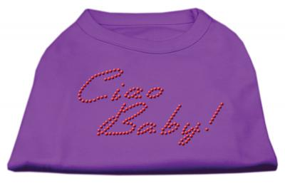 Mirage Pet Caio Baby Rhinestone Cotton Sleveeles Shirt - XSmall - 8