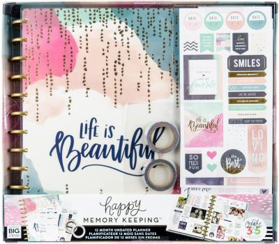 Happy Memory Keeping Undated 12-Month Big Planner Box Kit-Life Is Beautiful