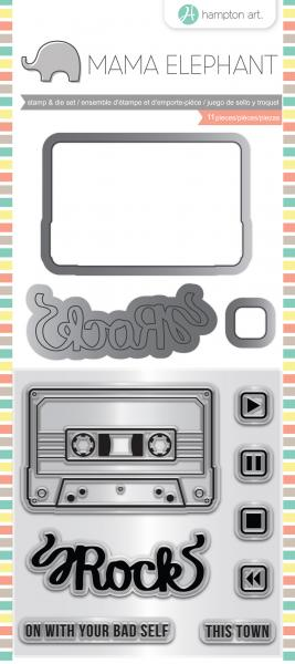 Mama Elephant Stamp & Die Set 4'X8'-Mix Tape