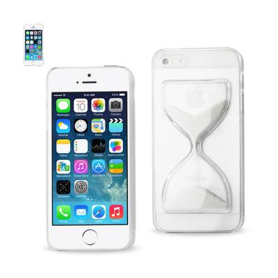 REIKO IPHONE SE/ 5S/ 5 3D SAND CLOCK CLEAR CASE IN WHITE