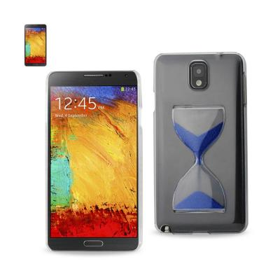 REIKO SAMSUNG GALAXY NOTE 3 3D SAND CLOCK CLEAR CASE IN NAVY