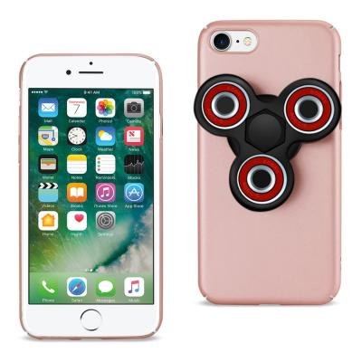 Reiko iPhone 7/8/SE2 Case With Led Fidget Spinner Clip On In Rose Gold