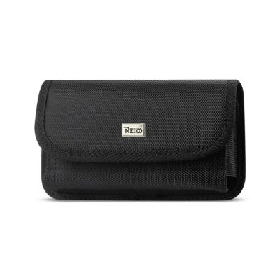 Reiko Horizontal Rugged Pouch With Velcro In Black (6.6X3.5X0.7 Inches)