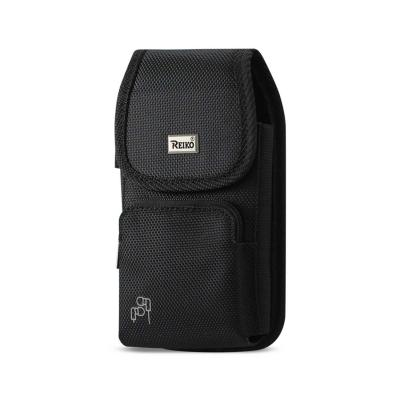 Reiko Vertical Rugged Pouch With Z Lid Pattern In Black (6.6X3.5X0.7 Inches)