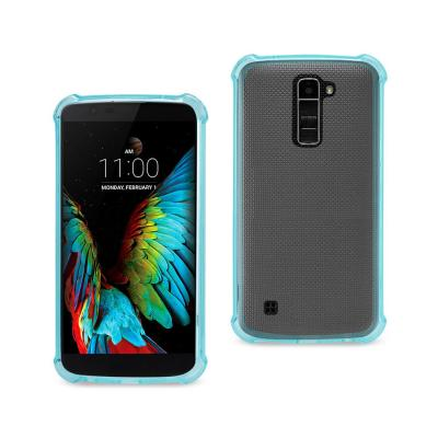 Reiko LG K10 Clear Bumper Case With Air Cushion Protection In Navy
